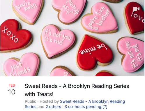 My First NYC Reading – Pre-Publication – at Sweet Reads in Brooklyn